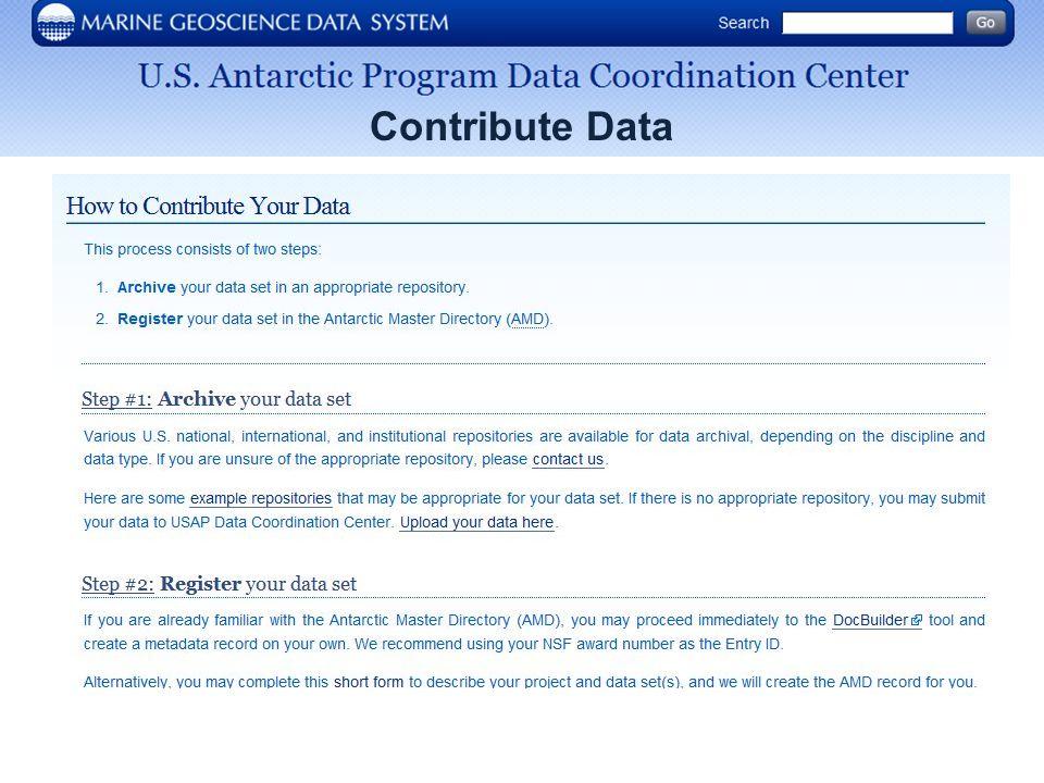 Contribute Data