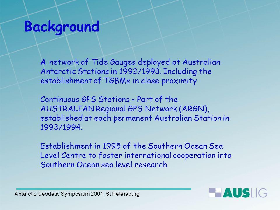 Antarctic Geodetic Symposium 2001, St Petersburg NMVS4 Original TGBM at Davis