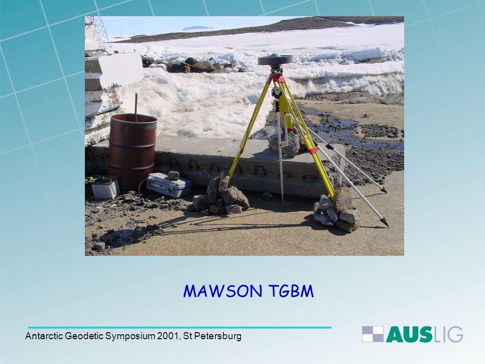 Antarctic Geodetic Symposium 2001, St Petersburg MAWSON TGBM