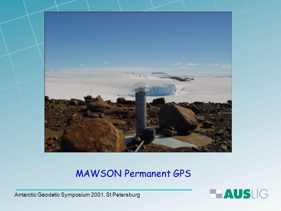 Antarctic Geodetic Symposium 2001, St Petersburg http://www.auslig.gov.au/geodesy/antarc/mawsontg.htm