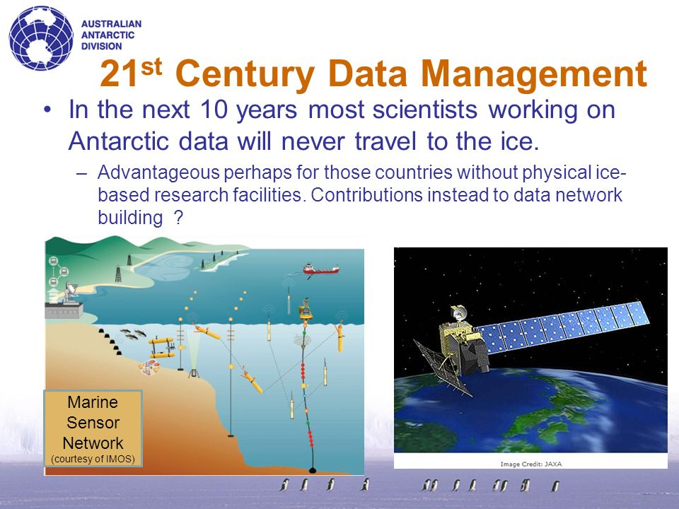 Data managers wont operate as an adjunct to science.