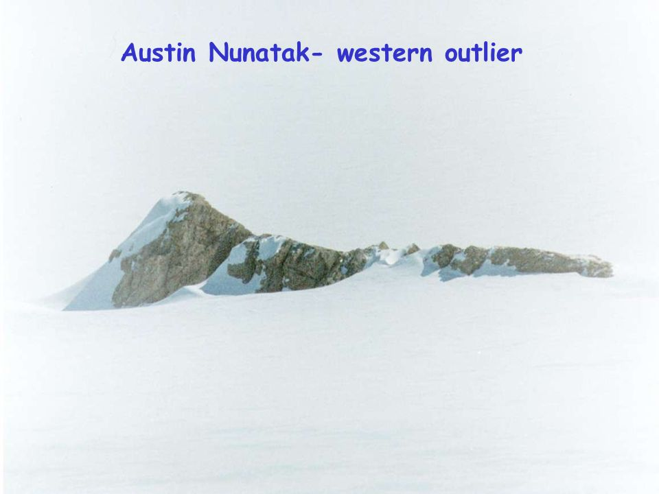 Antarctic Geodetic Symposium 2001, St Petersburg Current work Summer 2000/2001 – Austin Nunatak 3 days GPS observation – Nunatak near Mt Harding minim