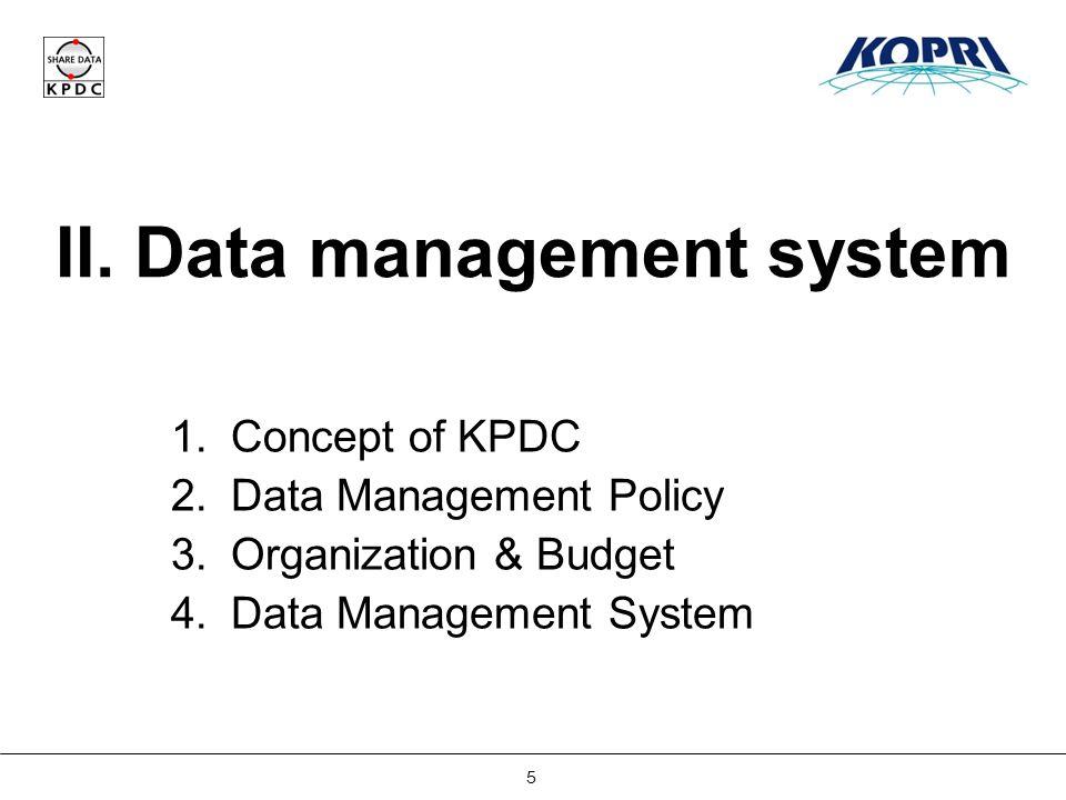 Establishing Korea Polar Data Center 6 II.Data Management System 1.