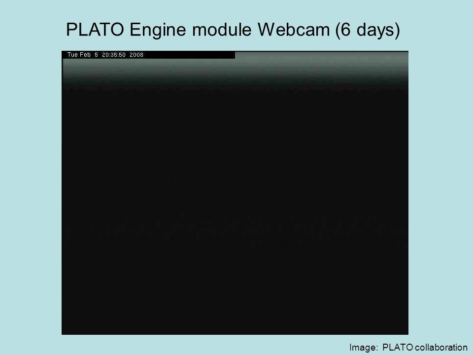 Image: PLATO collaboration PLATO Engine module Webcam (6 days)
