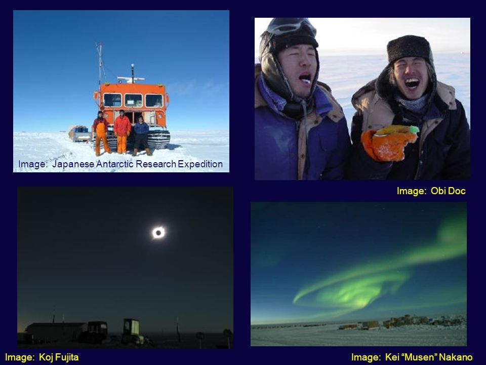Image: Koj FujitaImage: Kei Musen Nakano Image: Obi Doc Image: Japanese Antarctic Research Expedition