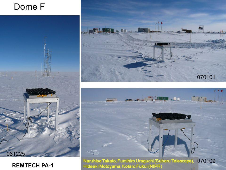 061225 070101 070109 REMTECH PA-1 Dome F Naruhisa Takato, Fumihiro Uraguchi (Subaru Telescope), Hideaki Motoyama, Kotaro Fukui (NIPR)