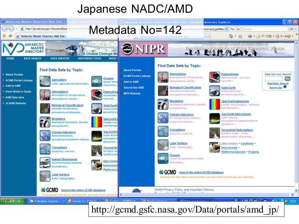 http://gcmd.gsfc.nasa.gov/Data/portals/amd_jp/ Japanese NADC/AMD Metadata No=142