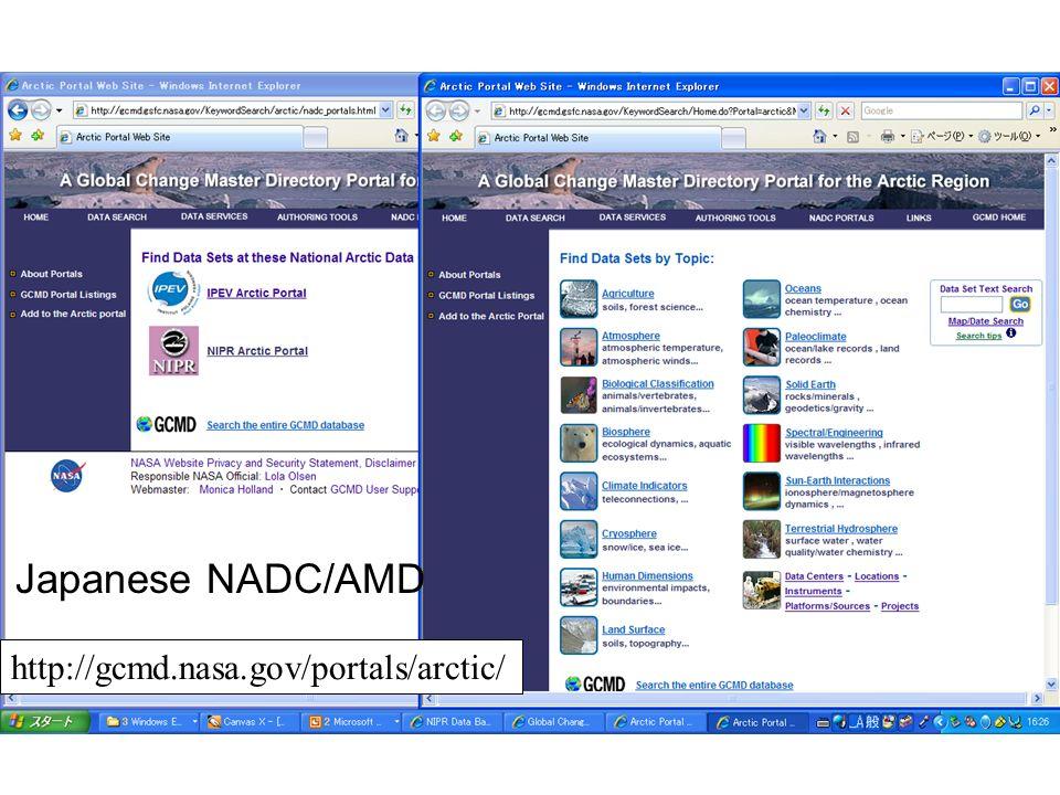 http://gcmd.nasa.gov/portals/arctic/ Japanese NADC/AMD