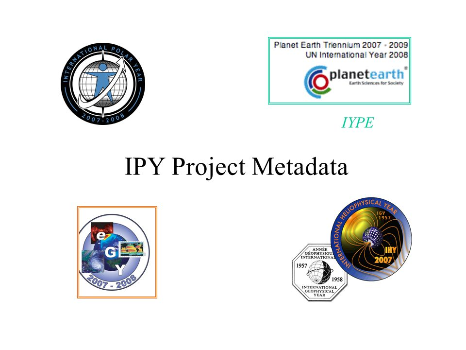 IYPE IPY Project Metadata