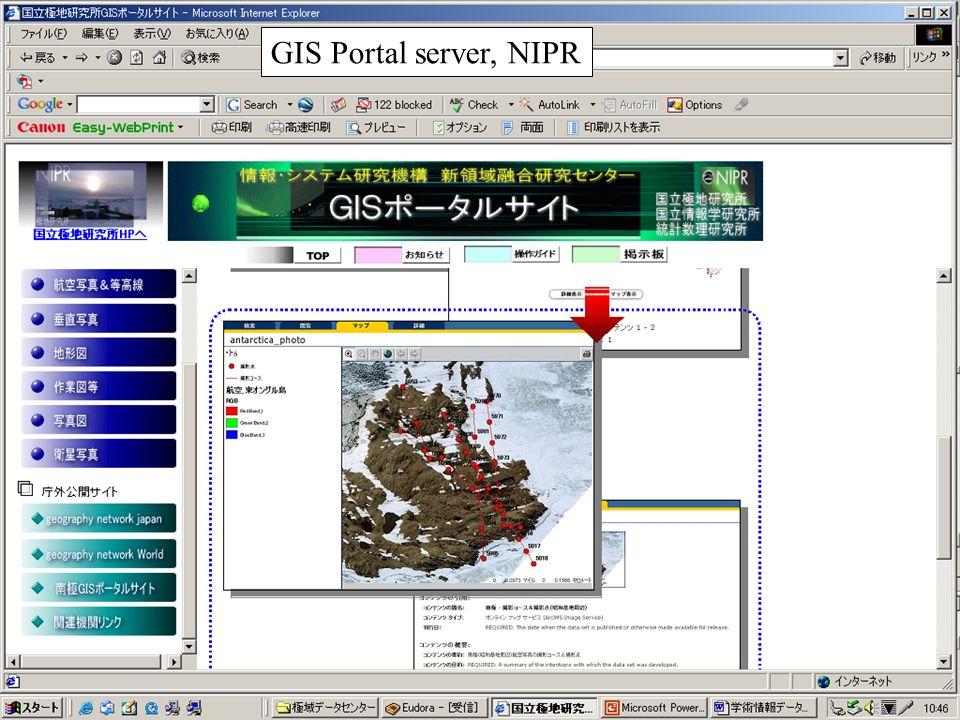 GIS Portal server, NIPR