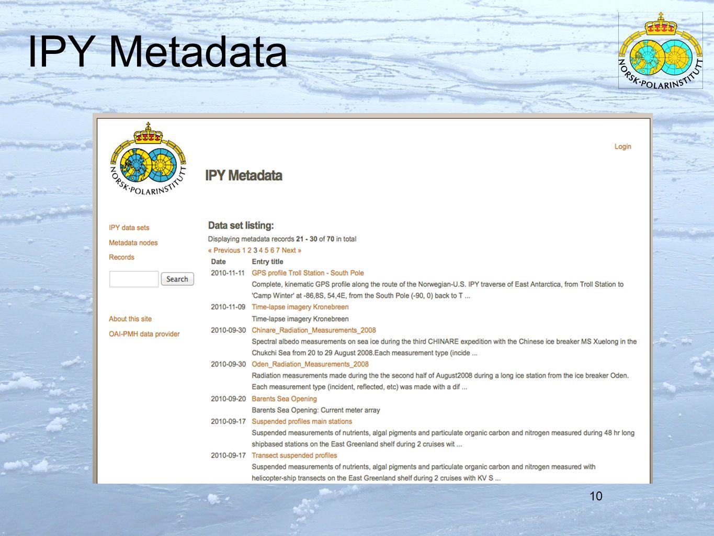 IPY Metadata 10
