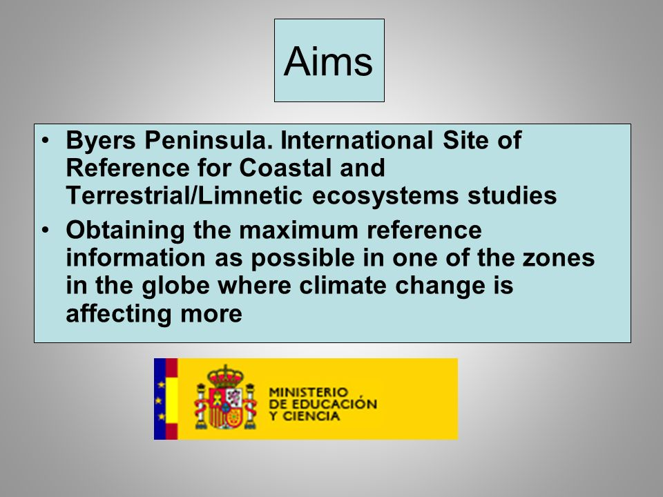 Aims Byers Peninsula.