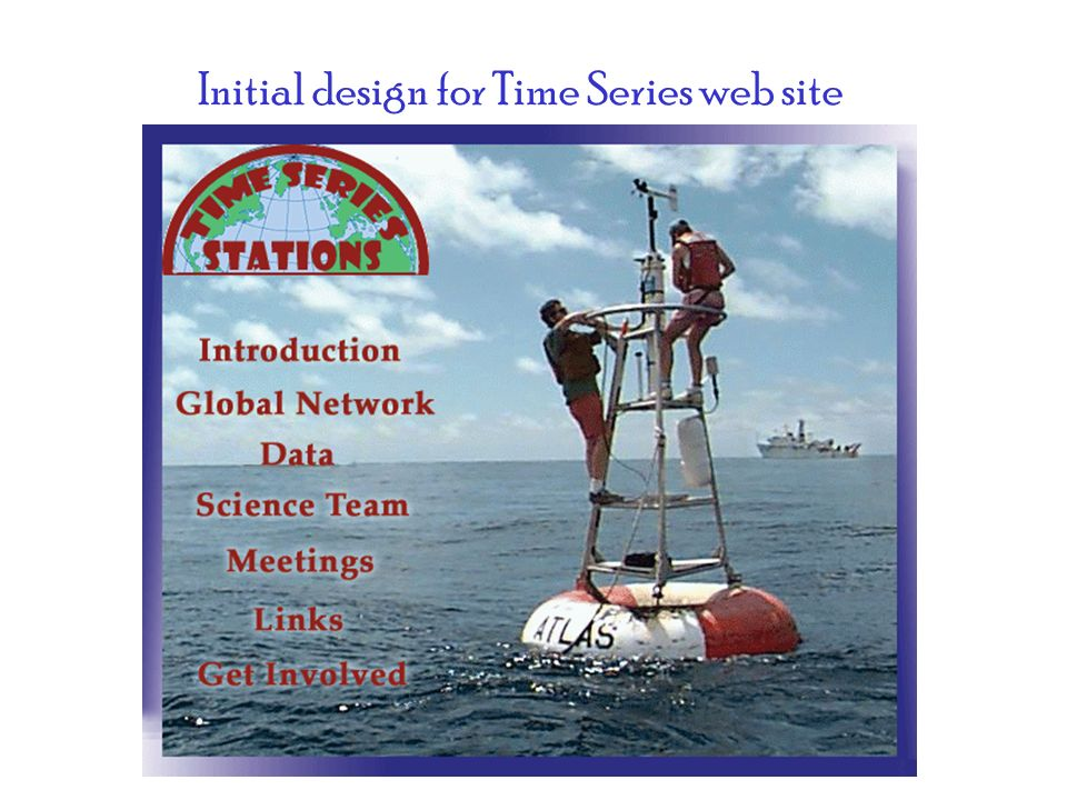 Initial design for Time Series web site