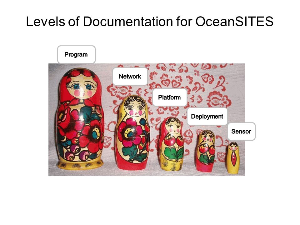 Levels of Documentation for OceanSITES