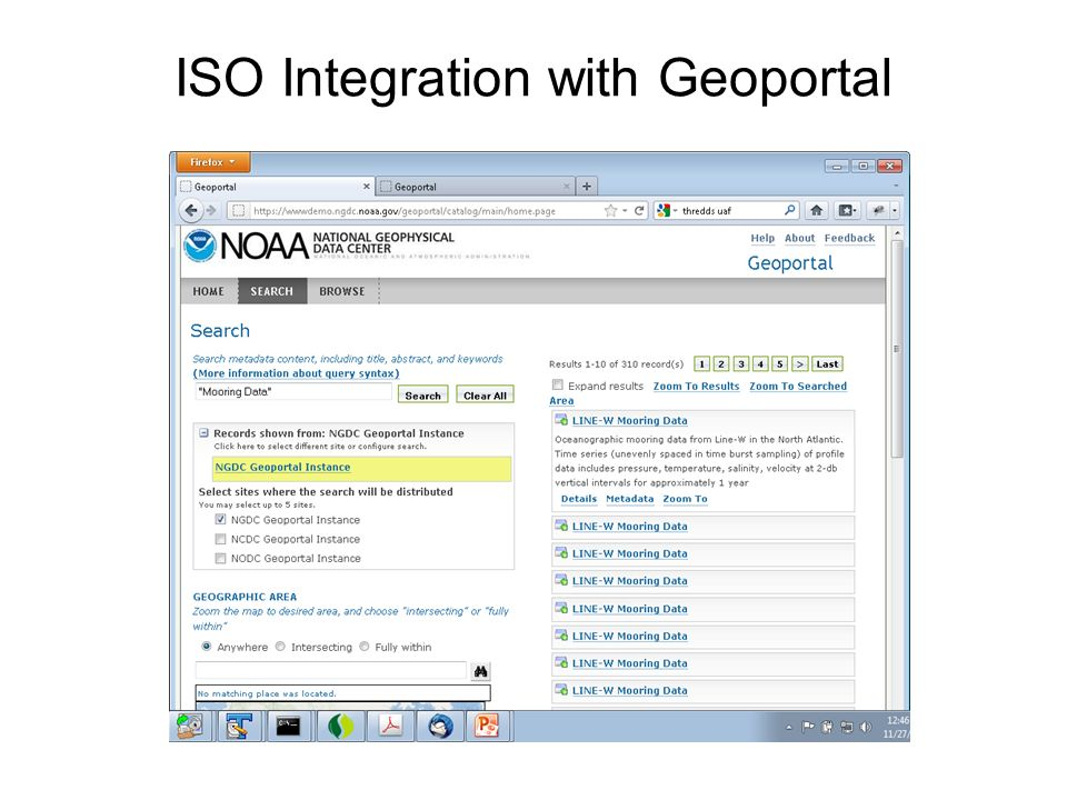 ISO Integration with Geoportal