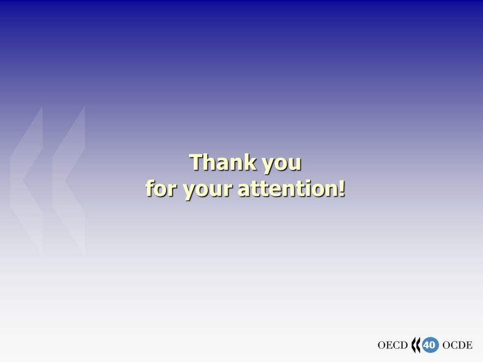 40 Thank you for your attention!