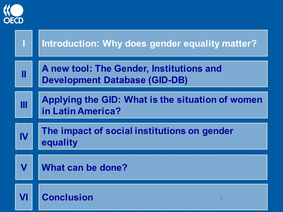 5 I) Gender equality matters… Gender equality = women and men have equal conditions for realising their full human rights and for contributing to, and benefiting from economic, social, cultural and political development.