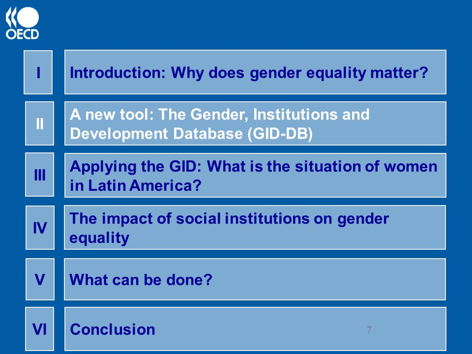 8 II) The Gender, Institutions and Development Database (GID) A new tool for researchers and policy makers Allows an analysis of obstacles to womens economic status Covers 161 economies and has around 60 indicators on gender discrimination Includes institutional variables that range from intrahousehold behaviour to social norms