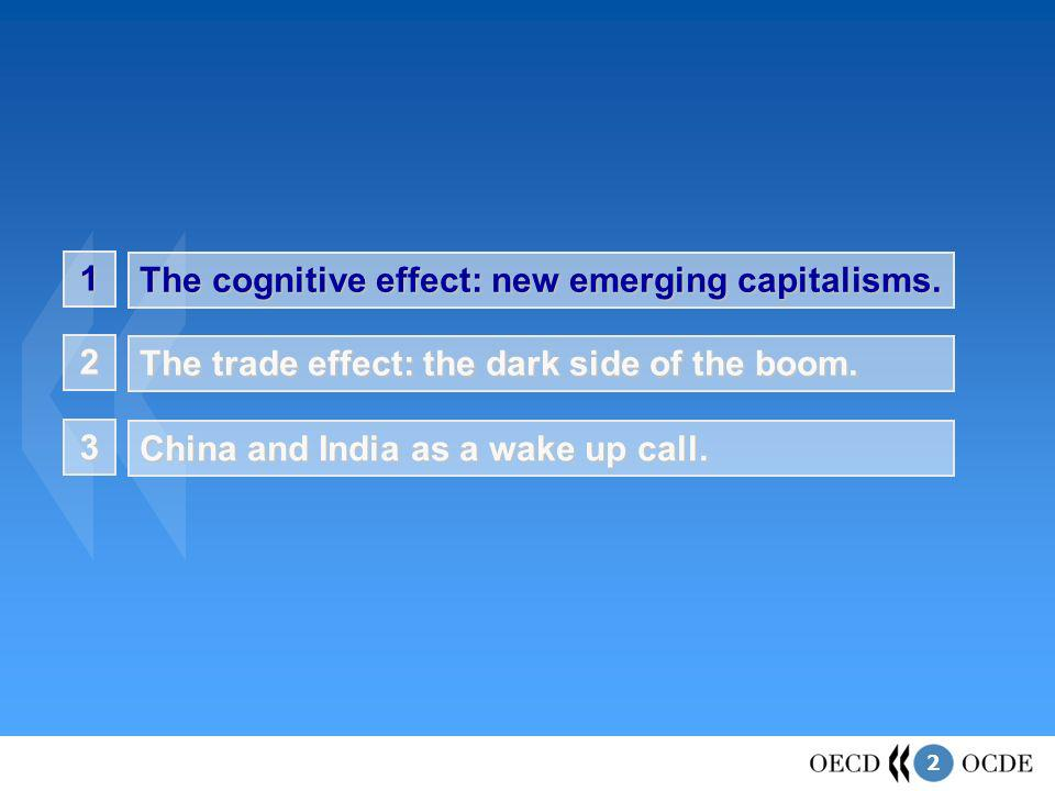 2 1 The cognitive effect: new emerging capitalisms. The trade effect: the dark side of the boom. 2 China and India as a wake up call. 3