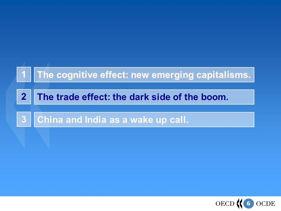 6 1 The cognitive effect: new emerging capitalisms. The trade effect: the dark side of the boom. 2 China and India as a wake up call. 3