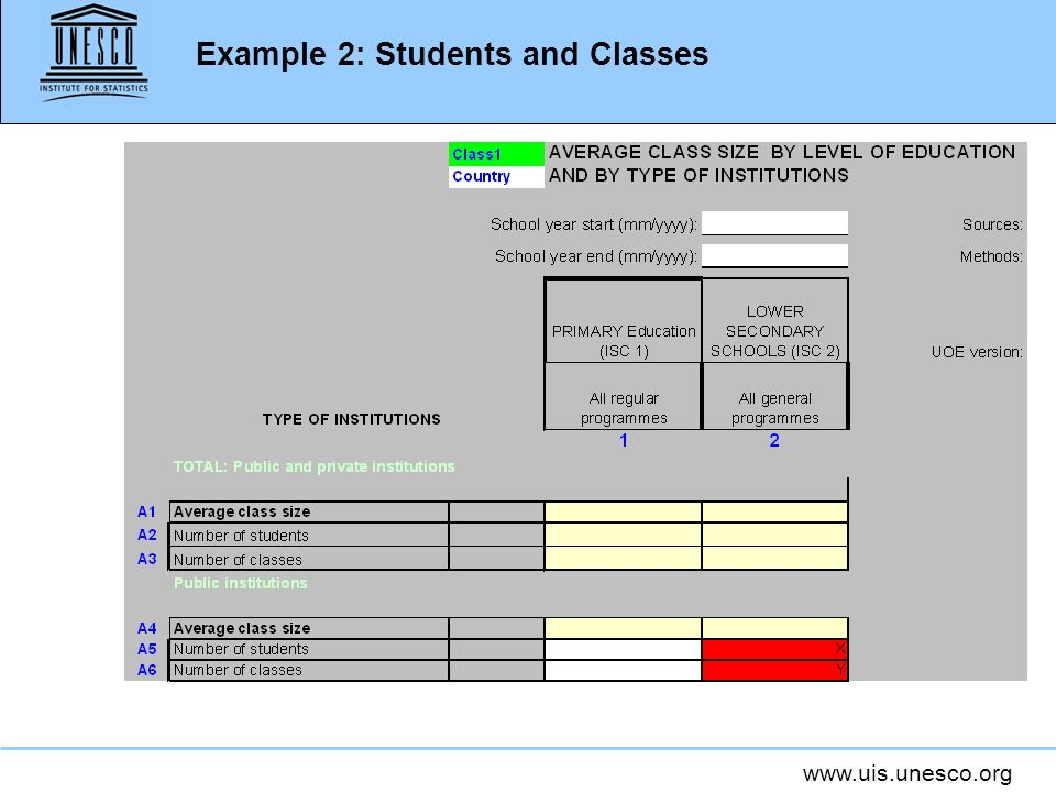 Example 2: Students and Classes