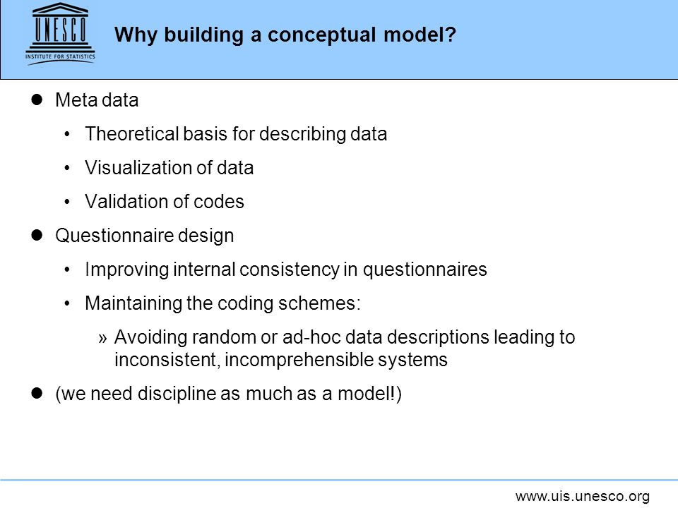 Why building a conceptual model.