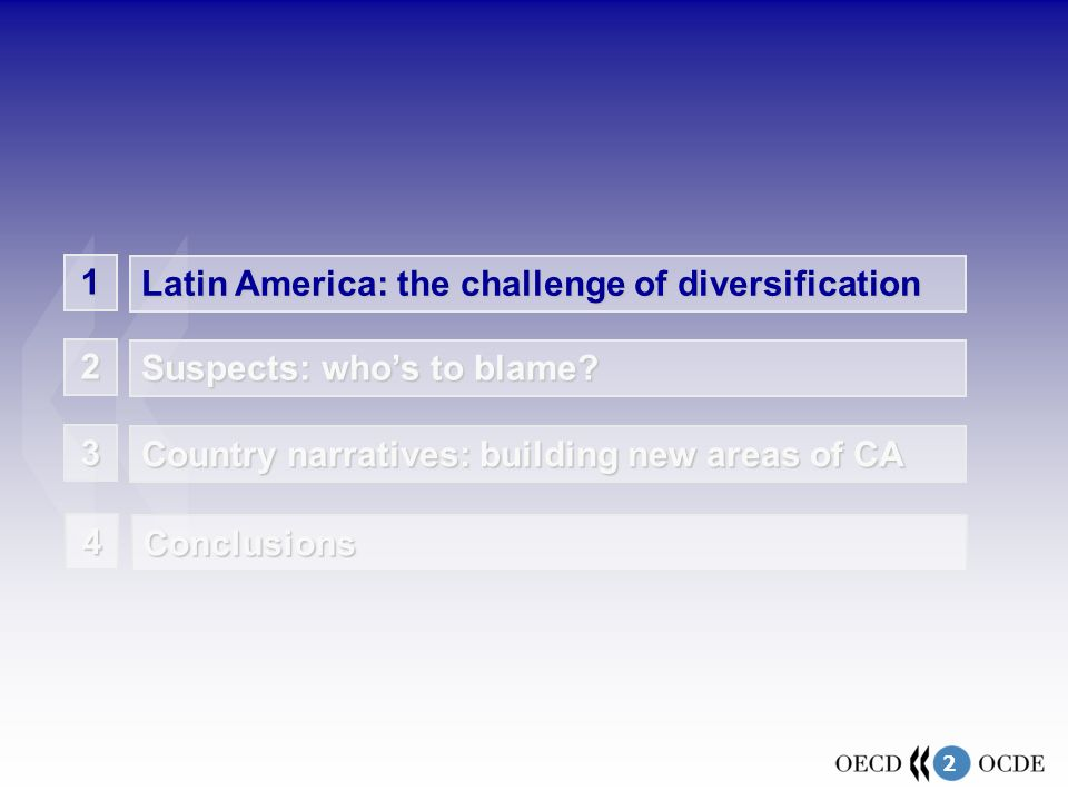 2 1 Latin America: the challenge of diversification Suspects: whos to blame.