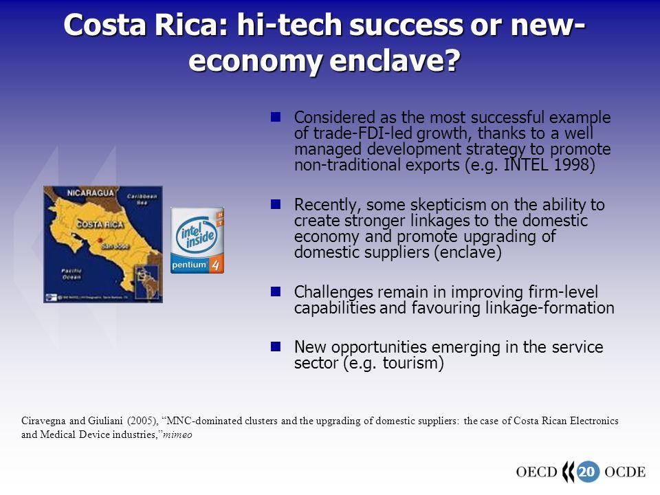 20 Costa Rica: hi-tech success or new- economy enclave.