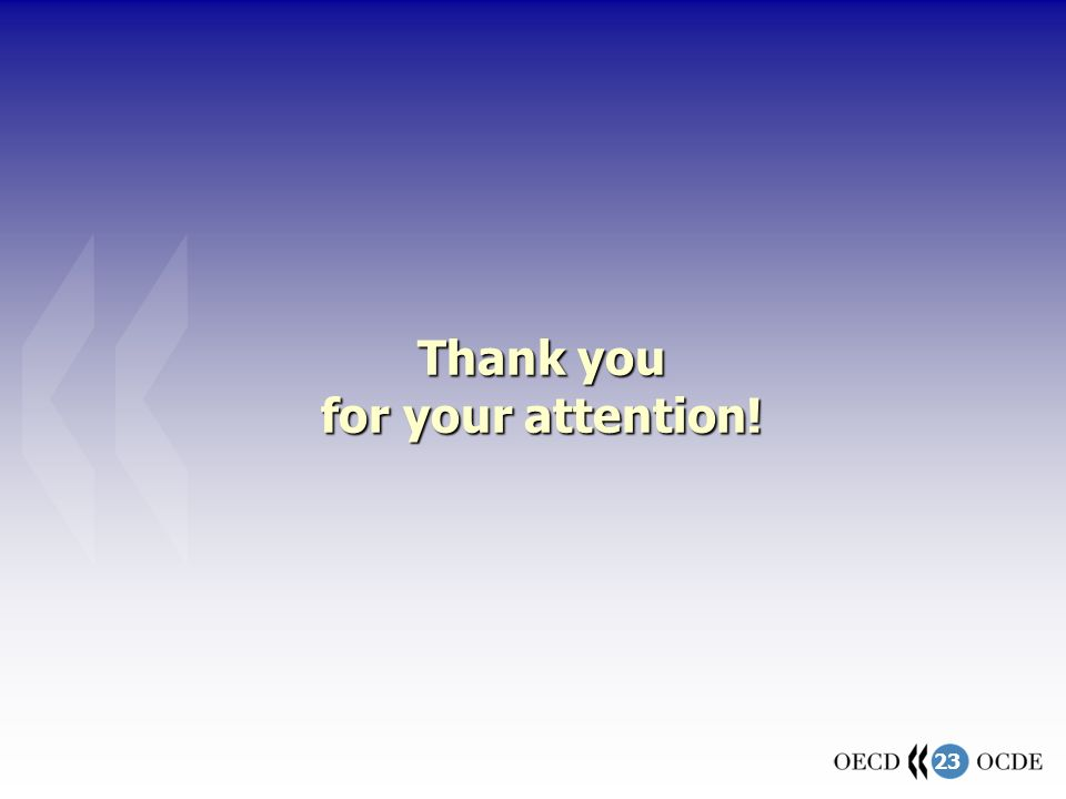 23 Thank you for your attention!