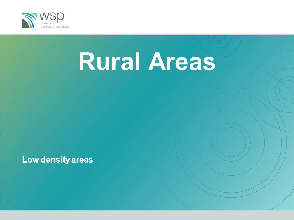 Rural Areas Low density areas