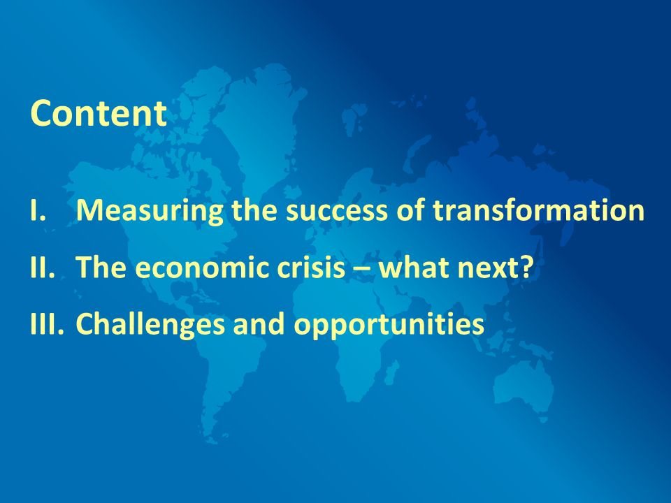 I. Measuring the success of transformation