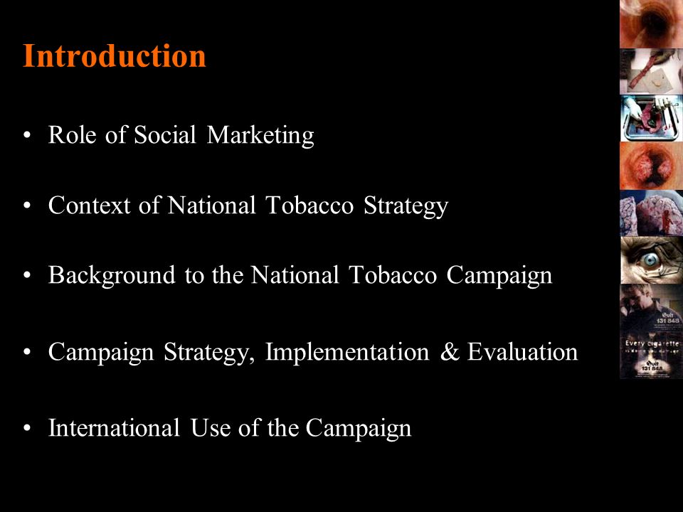 The Anti-tobacco Industry Quit campaigns Health departments - State/Territory and Commonwealth Cancer councils National Heart Foundation Action on Smoking and Health Peak medical bodies Quitline x 8 Pharmaceutical companies x 3 Fragmented infrastructure Cooperative rather than coordinated approach Limited funding Smokers targeted through multiple approaches with varying research to support