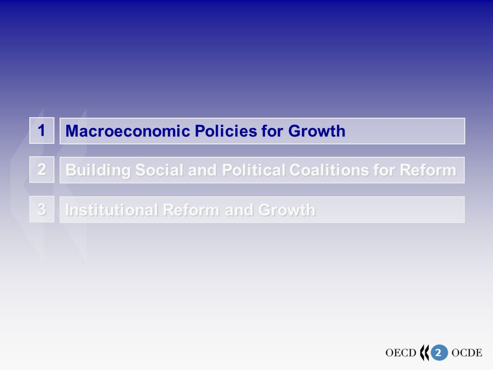 2 1 Macroeconomic Policies for Growth Building Social and Political Coalitions for Reform 2 Institutional Reform and Growth 3