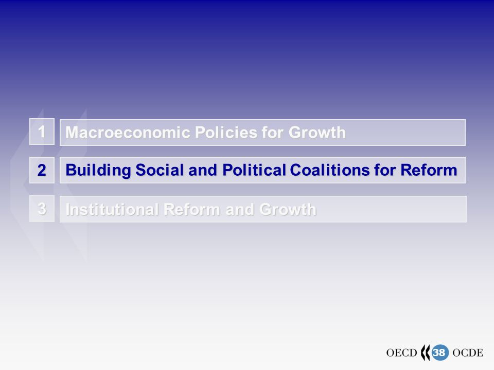 38 3 Institutional Reform and Growth Building Social and Political Coalitions for Reform 2 Macroeconomic Policies for Growth 1