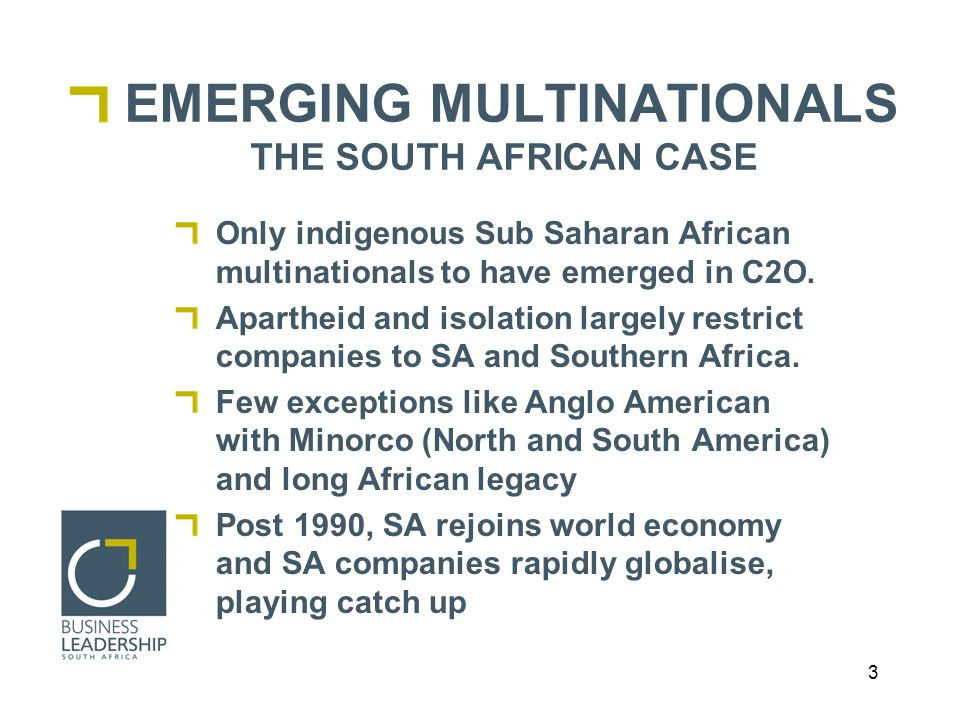 24 CONCLUSION SA investment is: Leading to growth of private sector in Africa.