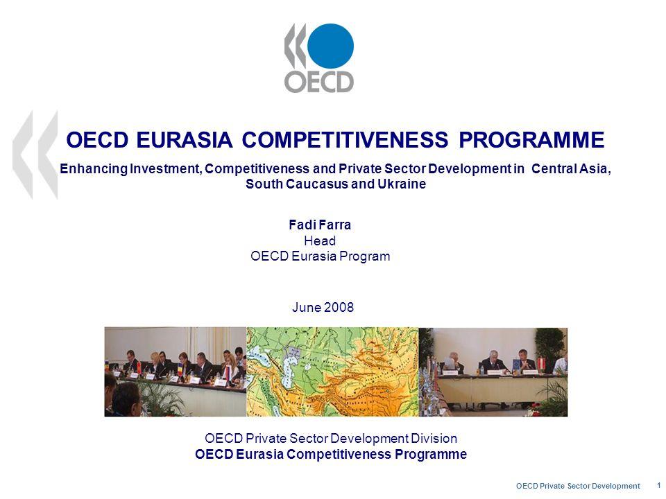 OECD Private Sector Development 1 OECD Private Sector Development Division OECD Eurasia Competitiveness Programme June 2008 Fadi Farra Head OECD Euras