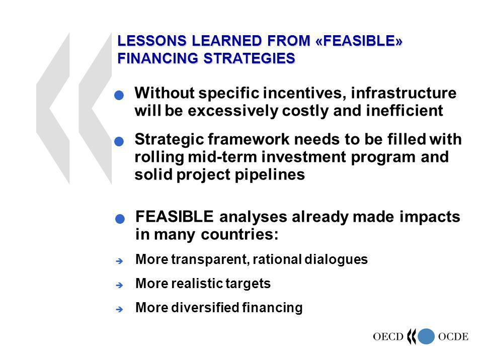 Without specific incentives, infrastructure will be excessively costly and inefficient Strategic framework needs to be filled with rolling mid-term in