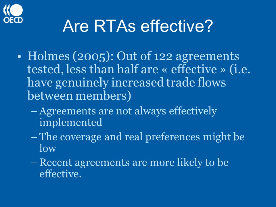 Are RTAs effective.