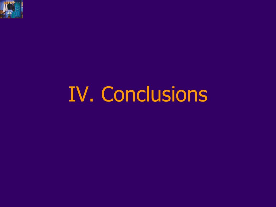 IV. Conclusions