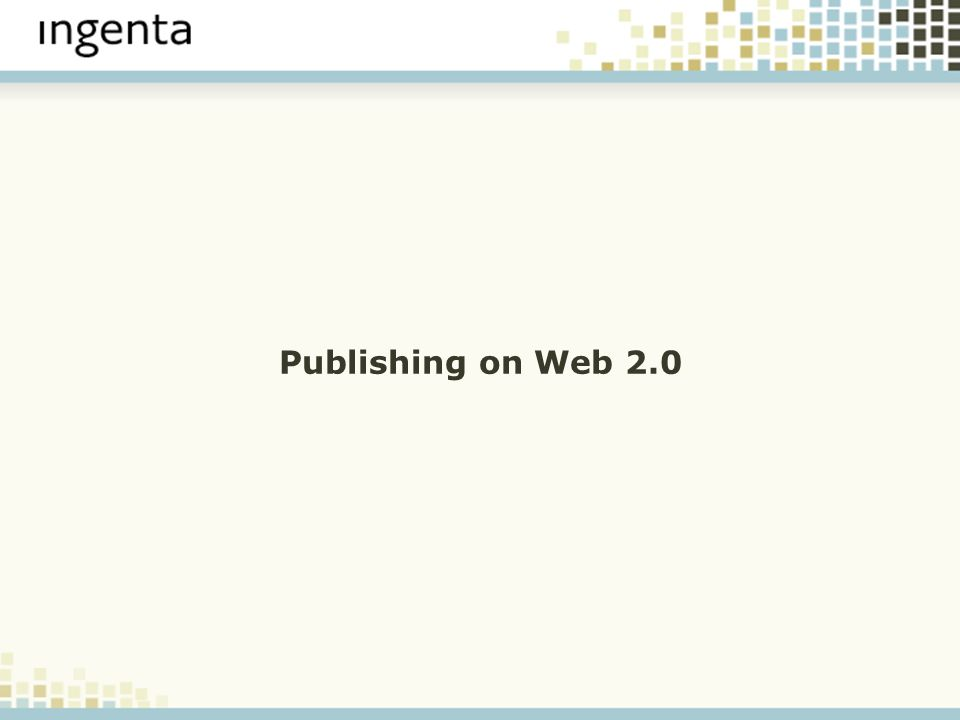 Publishing on Web 2.0
