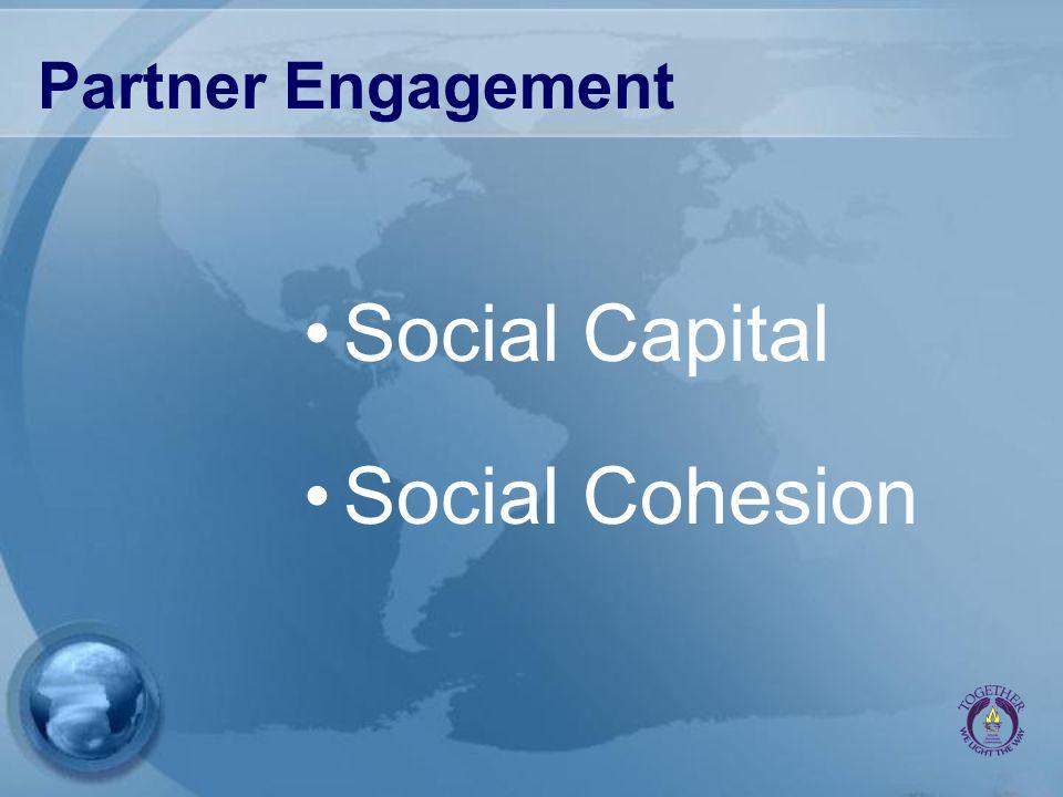 Partner Engagement Social Capital Social Cohesion