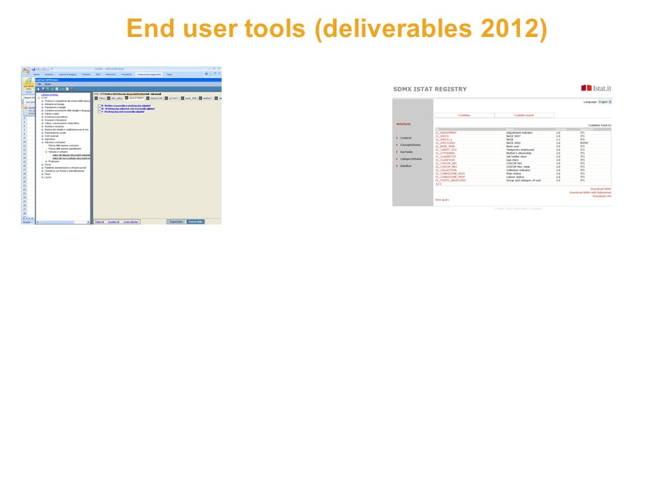 10 End user tools (deliverables 2012)