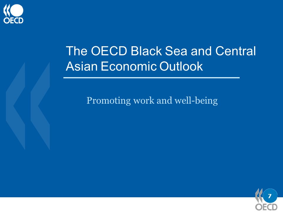 7 The OECD Black Sea and Central Asian Economic Outlook Promoting work and well-being