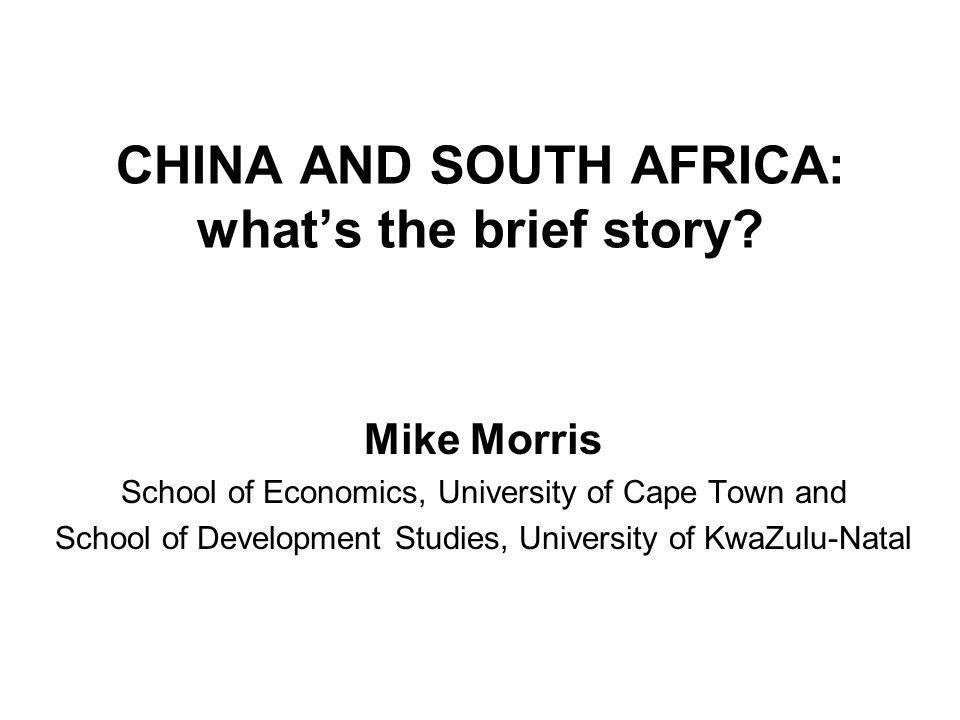 Situating SA Chinese imports/exports