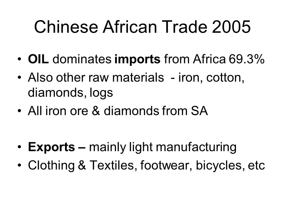 What this doesnt tell us Specificity of South Africa Indirect impacts of China on SA –In third country sector markets (need sector based research for this) –Exchange rates from Chinese activity