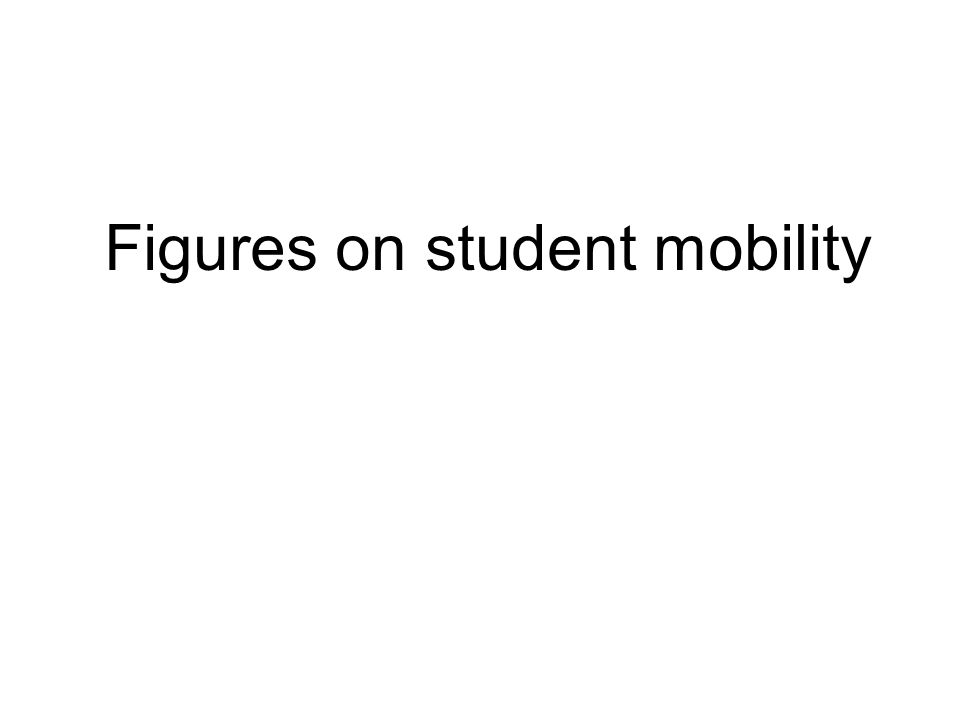 Figures on student mobility
