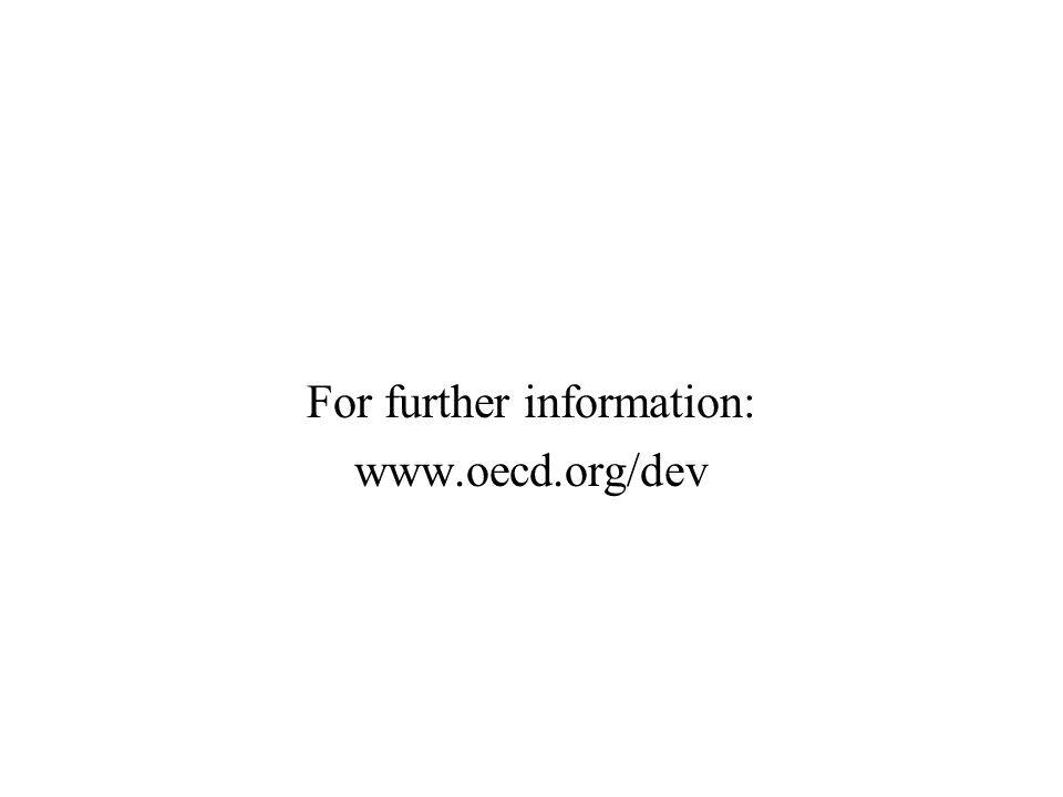 For further information: www.oecd.org/dev