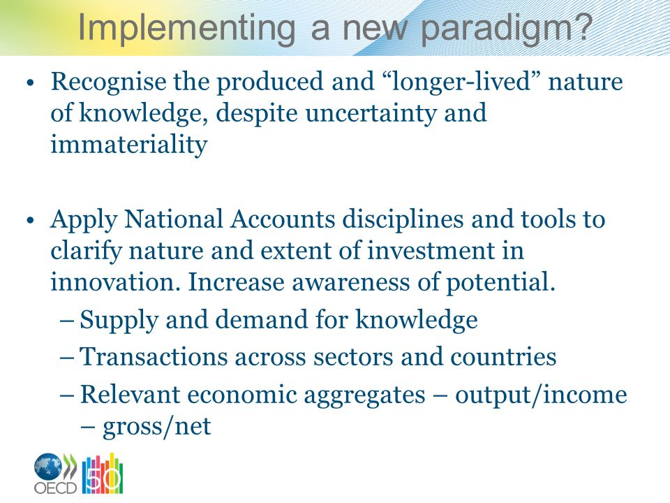 Implementing a new paradigm.