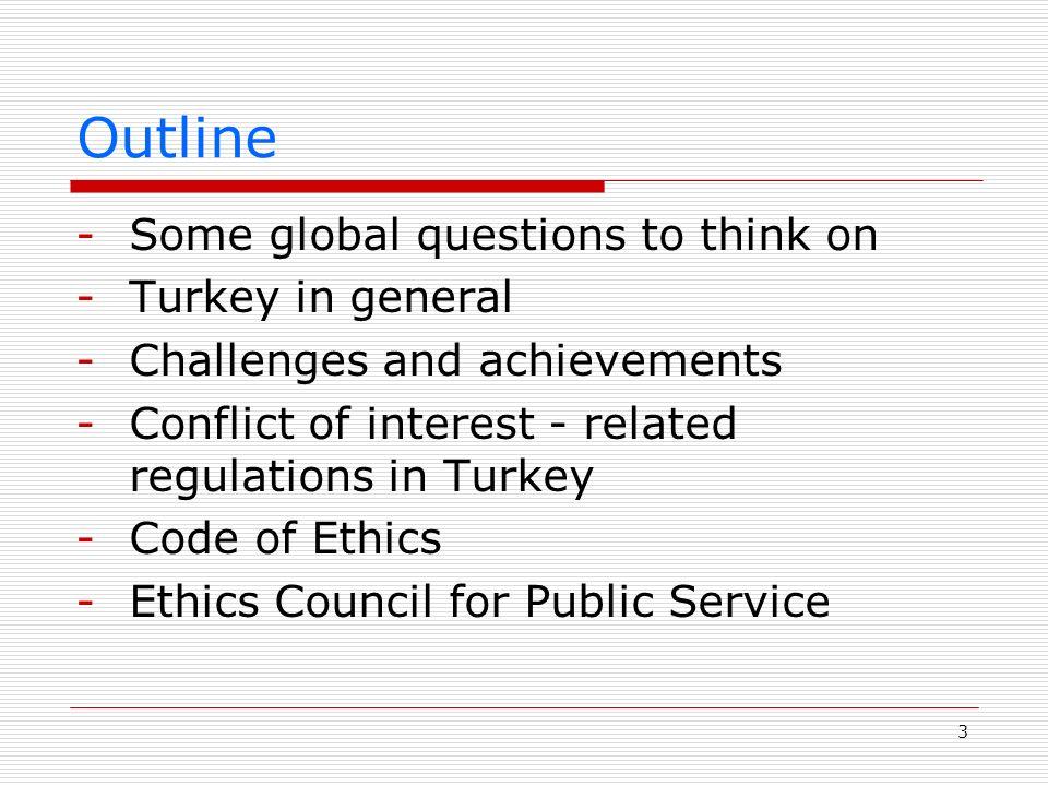 14 Regulating Conflict of Interest - Constitution -No clear mention on conflict of interest for public service.
