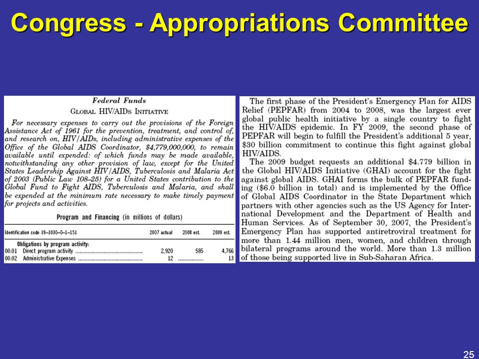25 Congress - Appropriations Committee